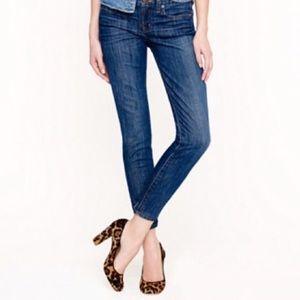 J. Crew Toothpick Denim Skinny Ankle Jeans Sz 28
